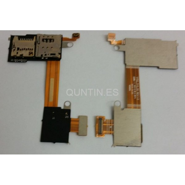 Sony M2 D2303, D2305, D2306 cable flex de lector SIM y microSD