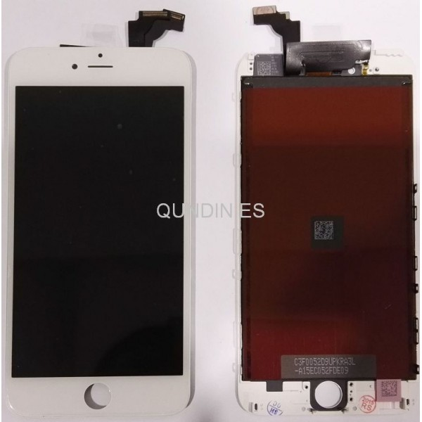 iPhone 6 plus pantalla completa blanca