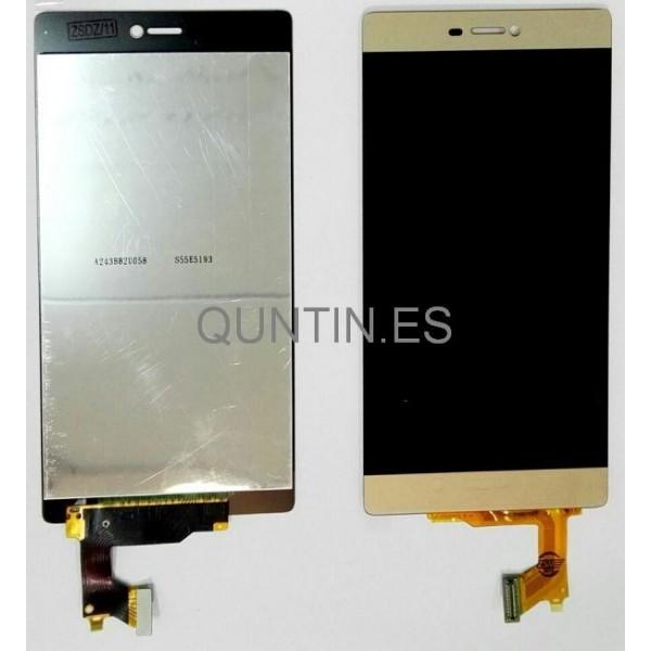 HUAWEI P8 pantalla completa oro