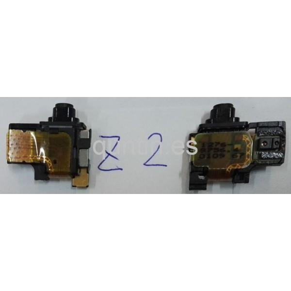Cable flex con conector de audio jack y sensores de luz y proximidad para Sony Xperia Z2, D6502, D6503, D6543, L50W