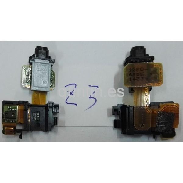 Flex con conector de audio y sensor de proximidad para Sony Xperia Z3, D6603