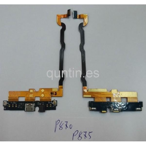 Flex de conector USB, microfono, leds LG Optimus P875 / F5 / L7 4G