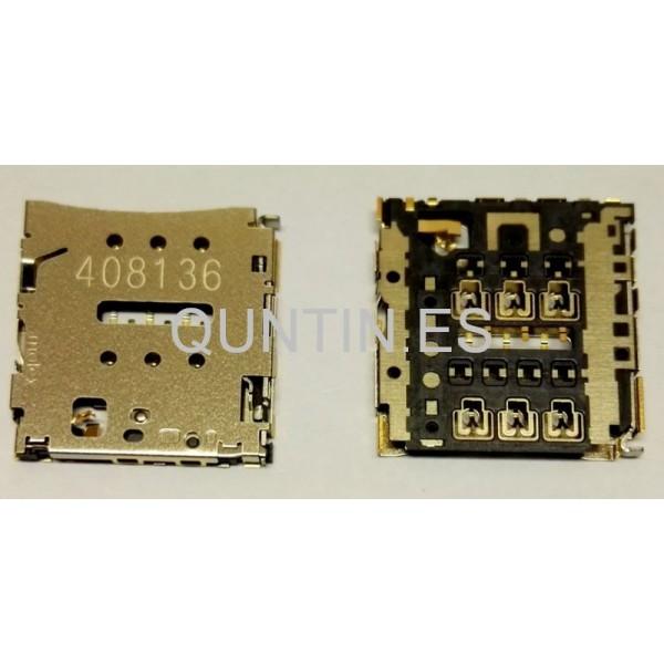 Conector de trajeta SIM para HUAWEI P6,BQ E4.5,BQ E5,alcatel OT8030