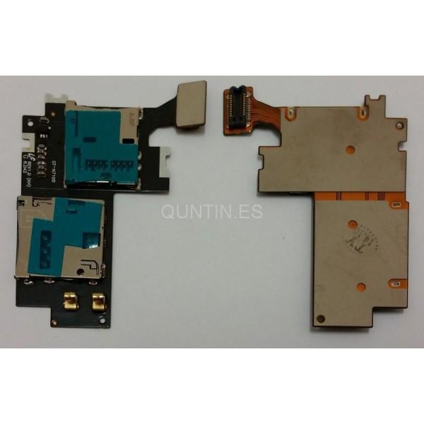 Samsung NOTE2 N7100 placa de lector SIM y MicroSD
