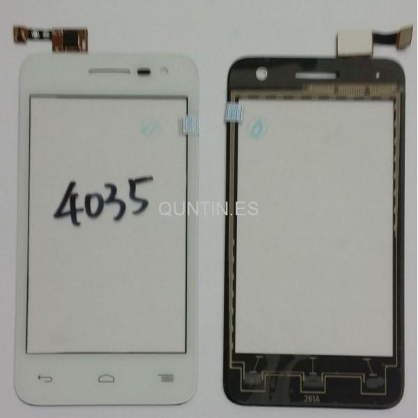 Alcatel one touch pop D3 OT4035 4035d pantalla tactil blanca