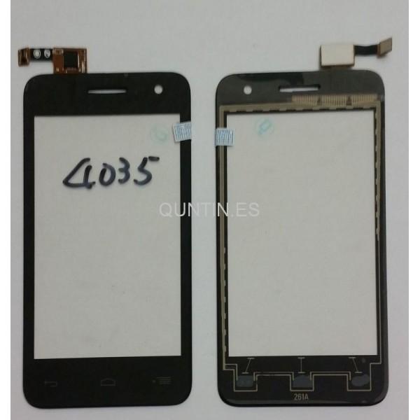 Alcatel one touch pop D3 OT4035 4035d pantalla tactil negra