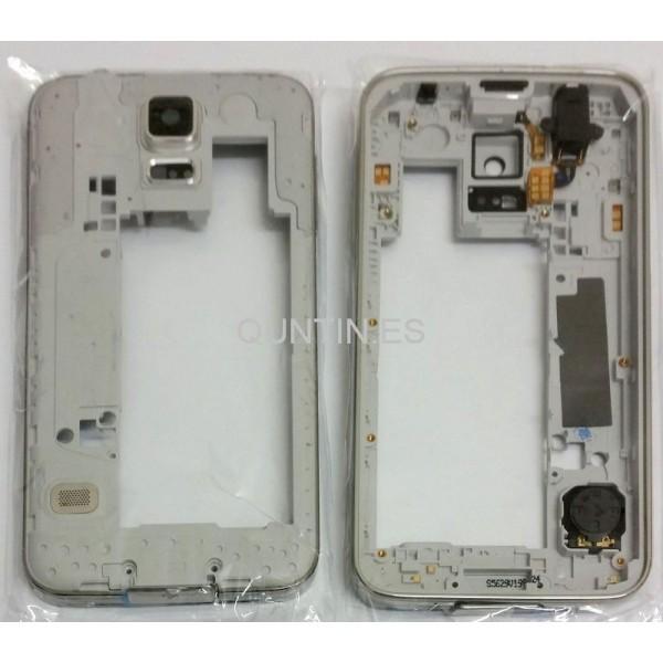 Samsung S5 G900F carcasa plateada