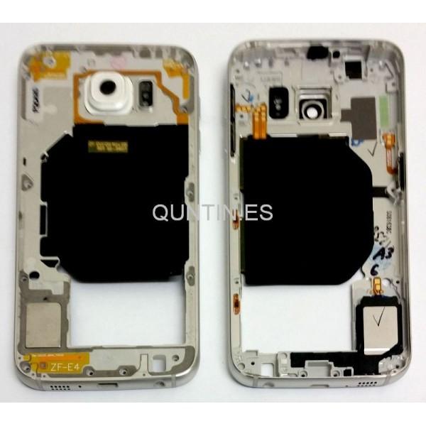Samsung S6, G920f carcasa de central plateada