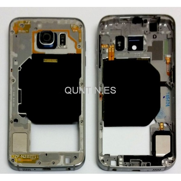 Samsung S6, G920f carcasa de central azul