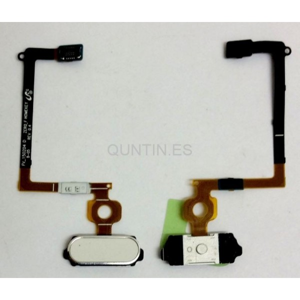 CABLE FLEX CON BOTON HOME EN BLANCO PARA SAMSUNG GALAXY S6, G920F