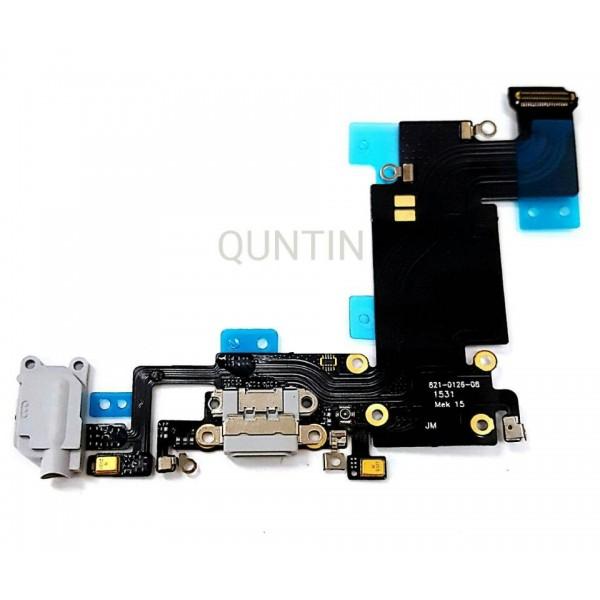 iPhone 6S Plus, flex  de carga y accesorios, micrófonos y conector de audio gris claro