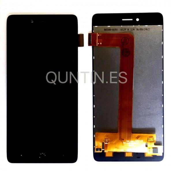 BQ Aquaris U plus pantalla completa negra