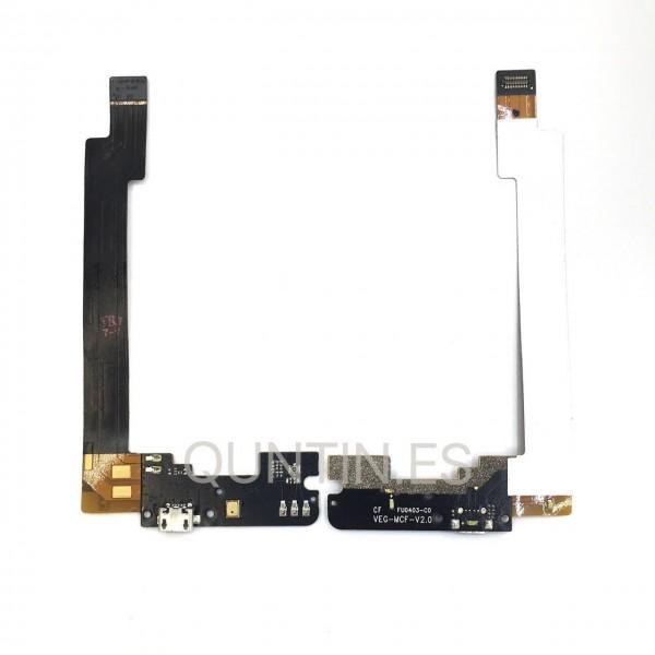 Cable flex de carga de BQ E5 0759, 0760, 0858
