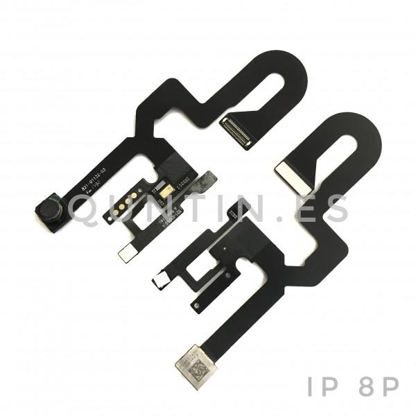 Flex de camara frontal y microfon, sensor para iphone 8 Plus
