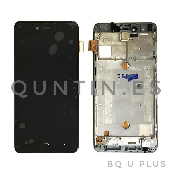 BQ AQUARIS U Plus pantalla completa con marco negro