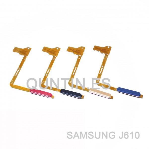 Flex de botón enciendido y huella para Samsung J6+, J6 Plus, J610F