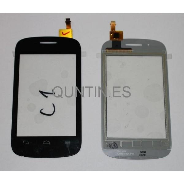 Alcatel One Touch Pop C1, Orange Yomi,4015X Táctil Negra