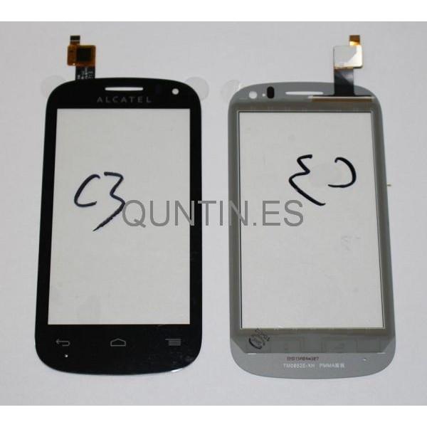 Alcatel One Touch Pop C3, 4033, 4033D Táctil  Negra